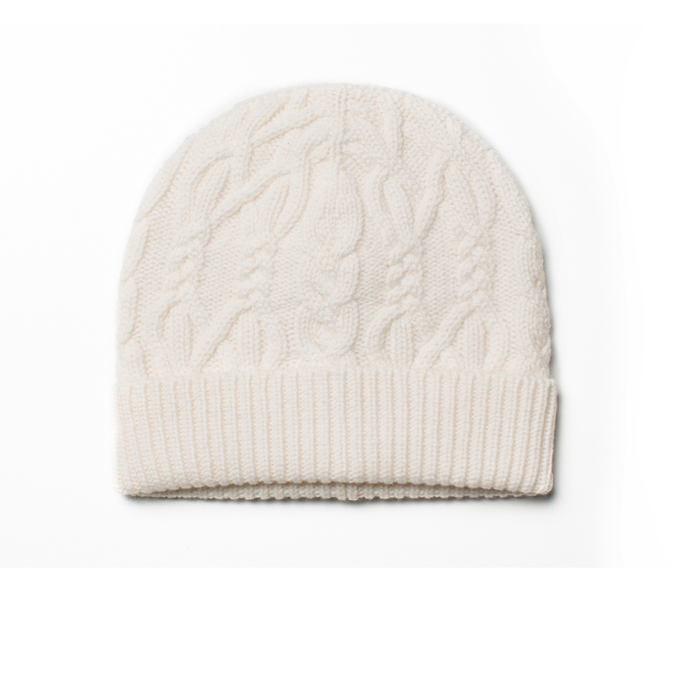 df8ea571197 Cable knitted cashmere hat ivory