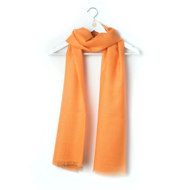 fular cashmere naranja